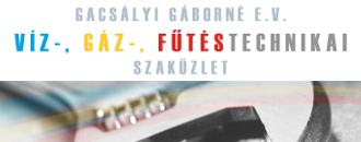Gacsályi Gáborné e.v., Víz-, Gáz-, Fűtéstechnikai Szaküzlet